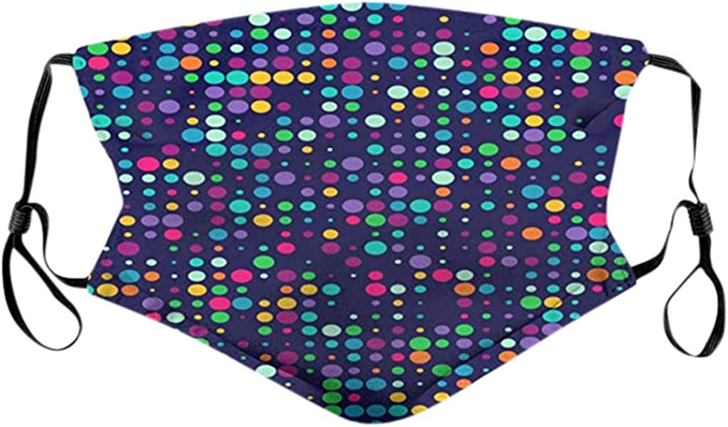 Pamilk Delivery Time 5-10 Day,10pc Mouth Bandanas for Dust Protection Anti Face Washable Earloop Cotton