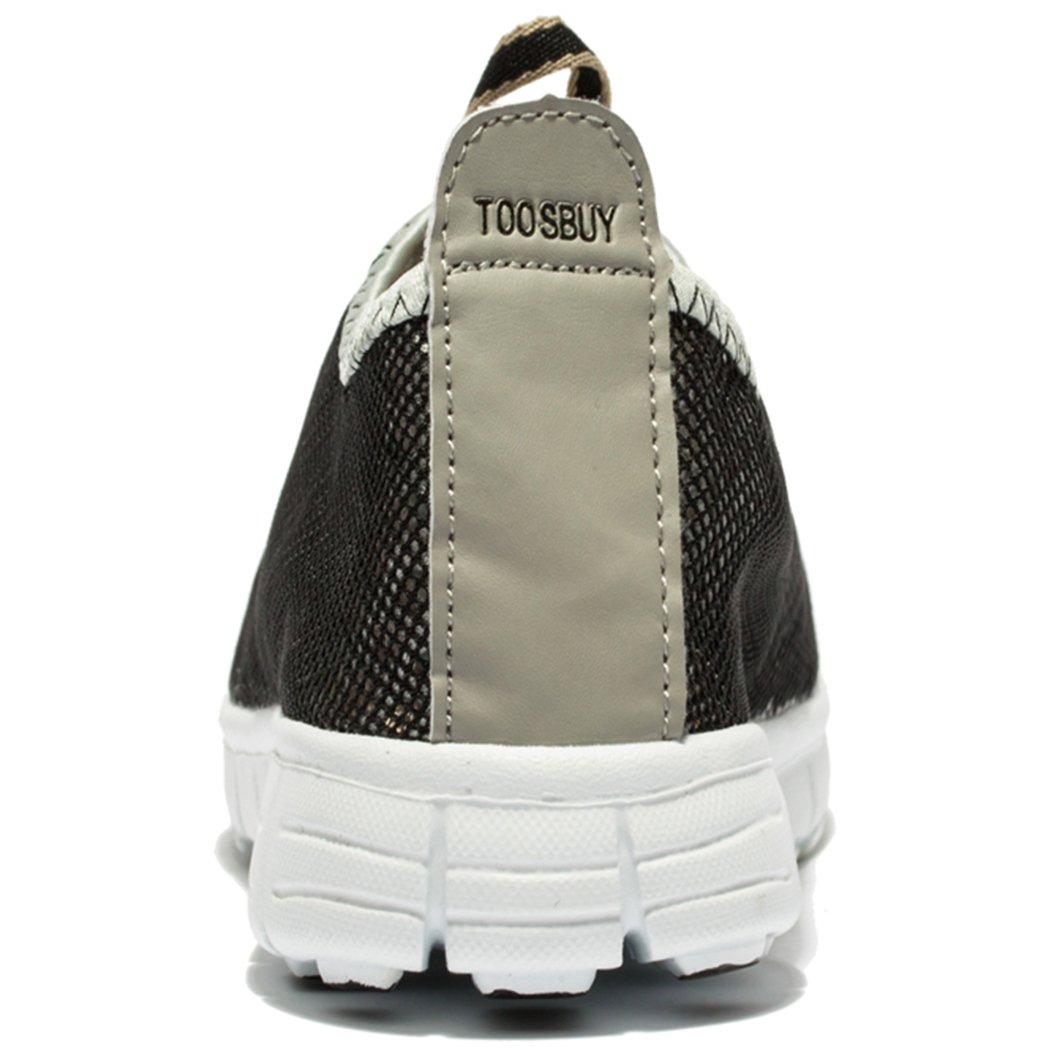 KENSBUY Men & Women Breathable Mesh Running Sport Tennis Outdoor Shoes,Beach Aqua,Athletic,Exercise,Slip Wave EU41 Grey by KENSBUY (Image #3)
