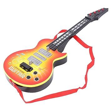 Dabixx Juguete Musical, Música Guitarra eléctrica 4 Cuerdas Instrumento Musical Juguete Educativo Regalo de Juguete para niños - Amarillo: Amazon.es: Hogar