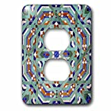 3dRose lsp_73581_6 6 Morocco, Hassan II Mosque Mosaic, Islamic Tile Detail-AF29 KWI0019-Kymri Wilt-2 Plug Outlet Cover
