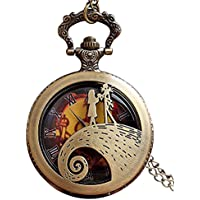 Jack Skellington Sally TimBurton - Reloj de Bolsillo