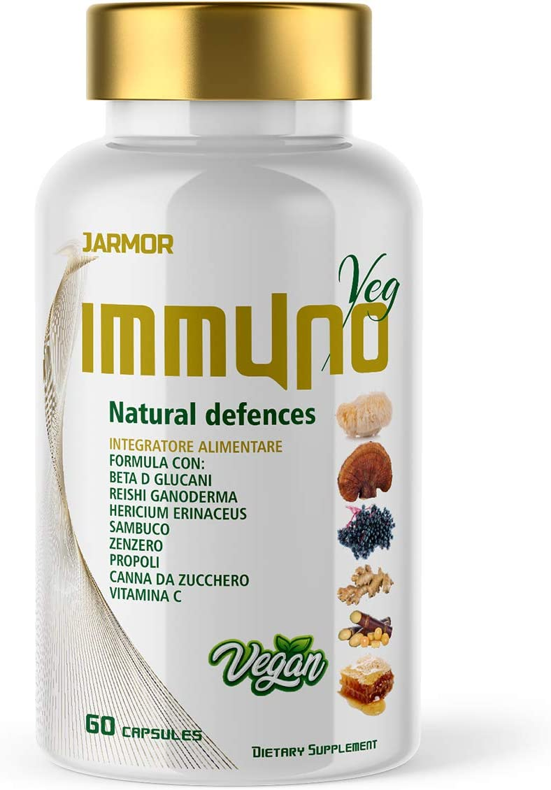 Suplemento INMUNE Sistema inmunológico Reishi Hericium Ginger Vitamina C Propóleo Saúco Betaglucan: Amazon.es: Salud y cuidado personal