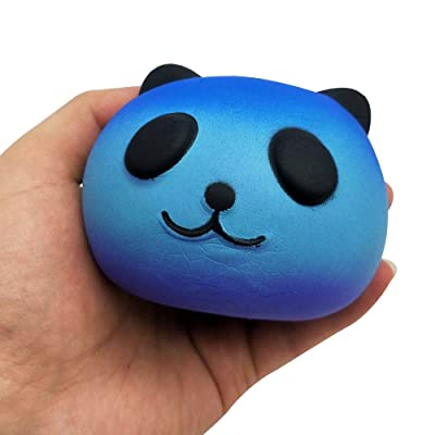 Zakally 3.14 Inches Squishies Panda Galaxy Sky Jumbo Slow Rising Scented Kawaii Squishies Animal Toy for Gift Collection Toy Decompression SimulationToys Cure Toy for Kid Gift Toys (Blue): Home & Kitchen