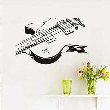Jixiaosheng Guitarra Eléctrica Etiqueta De La Pared 3D Pvc Creativo Guitarra Pegatinas De Pared Sala De Estar El Dormitorio Decora La Decoración Del Hogar ...