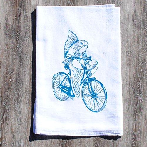 flour-sack-cotton-kitchen-towel-teal-fish-on-a-bike