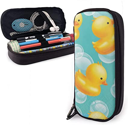 Estuche de goma con diseño de pato para niños y niñas: Amazon.es: Oficina y papelería