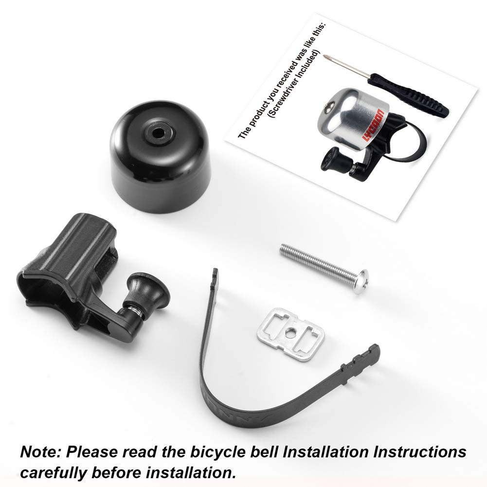 LYCAON Bicycle Bell 8 Colors Mini Aluminum Alloy Bike Bell Loud Crisp Clear Sound Bike Ring Horn Accessories