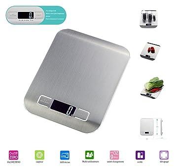NBD® Báscula Electrónica de Cocina de Alta Precisión, Báscula Digital para Cocina de Acero