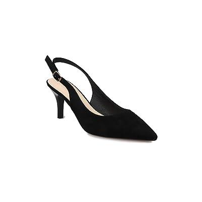 Vanyee Women Dress Pumps Sling Back Pointed Toe Low Kitten Heels | Pumps