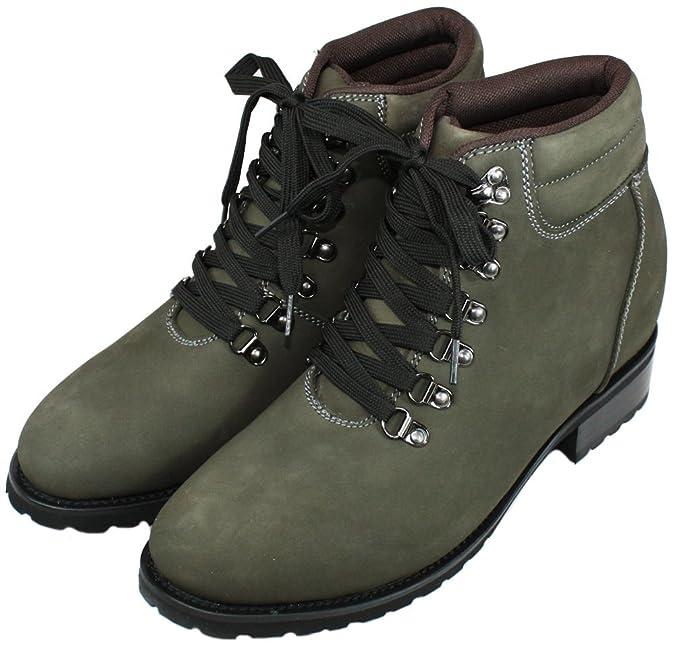Calden K289022–8,4cm TalleR–Hauteur augmenter Chaussures ascenseur (Gris lacé Bottes) - Gris - gris,