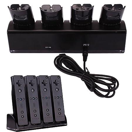 Amazon.com: maxllto 4 x 2800 mAh batería + cargador Dock ...