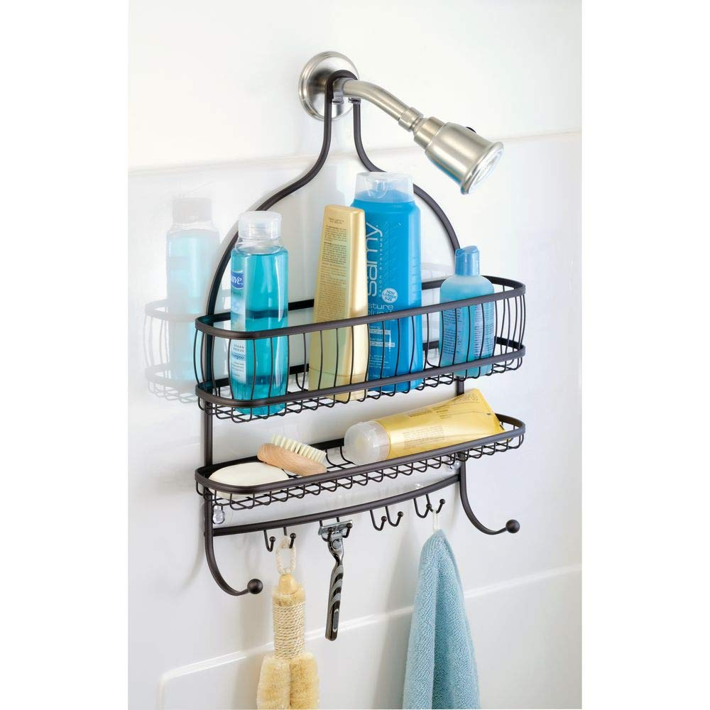 Amazon.com: InterDesign York Lyra - Bathroom Jumbo Shower Caddy ...