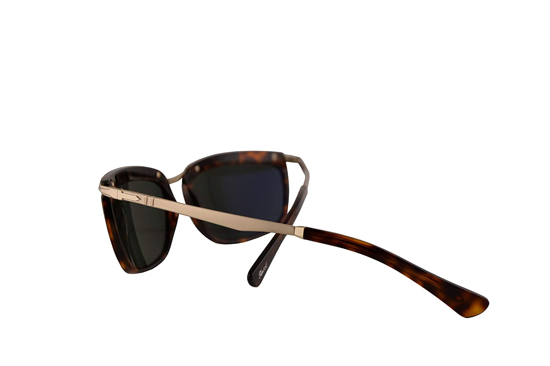 Persol 3229-S Key West II Sunglasses Havana w//Polarized Green 60mm Lens 2458 PO 3229S PO3229S PO3229-S