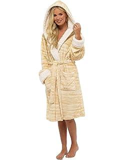 0da7bc2b58 Ladies Dressing Gown Shaggy Soft Fleece Women Gowns Robe Bathrobe  Loungewear for her