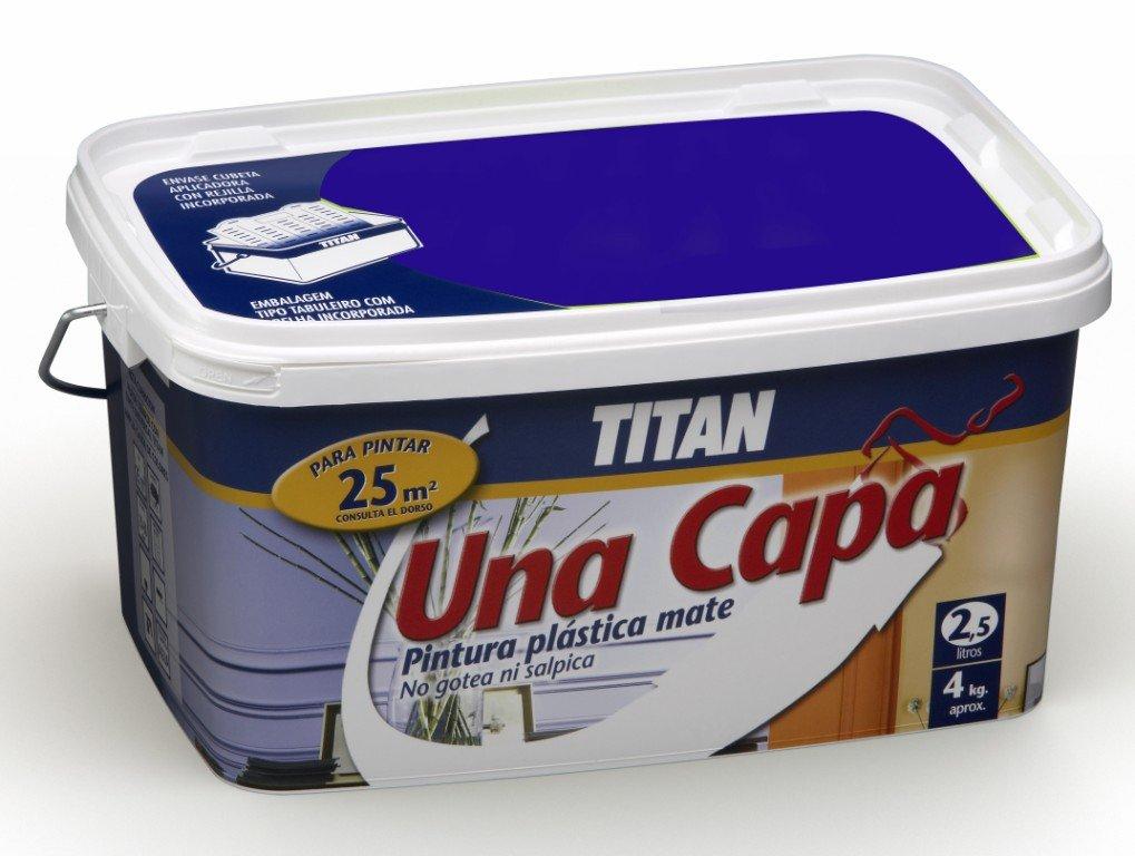 Titan M125536 - Pintura plastica monocapa mate de 2 5 l esmeralda