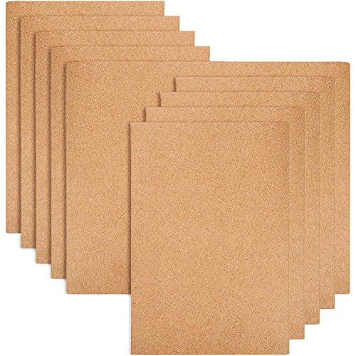 Kraft Notebook Cover - TecUnite 10 Pack Lined Notebook Kraft Brown Cover Journal Notebooks for Travelers, A5 Size, 60 Lined Pages/ 30 Sheets (Brown Cover)