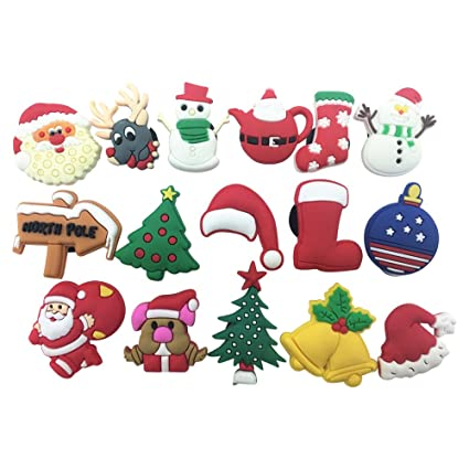 16pcs christmas daysanta clauschristmas trees shoe charms for croc shoes wristband - Christmas Day Games