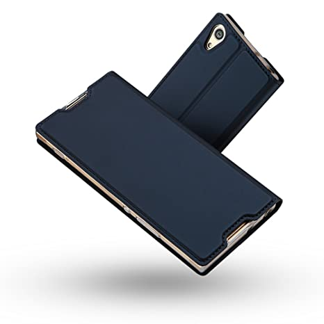 Funda Sony Xperia XA1,Radoo Slim Case de Estilo Billetera Carcasa Libro de Cuero,PU Leather Con TPU Silicona Case Interna Suave [Función ...