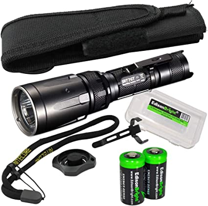 Nitecore SRT7GT Red//Green//Blue//UV Tactical Flashlight with Battery /& Charger