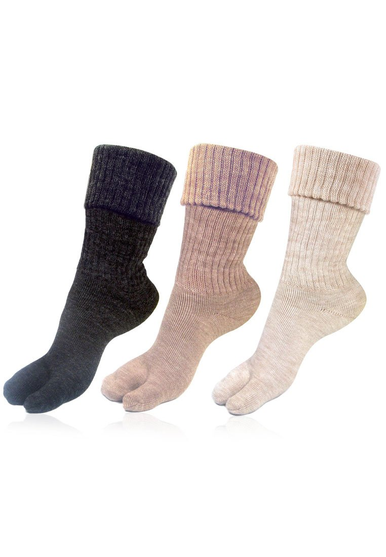 Bonjour Womens Thumb Socks (Pack of 3) (BROGWL-17A-PO3)(Colors & Print May Vary) product image