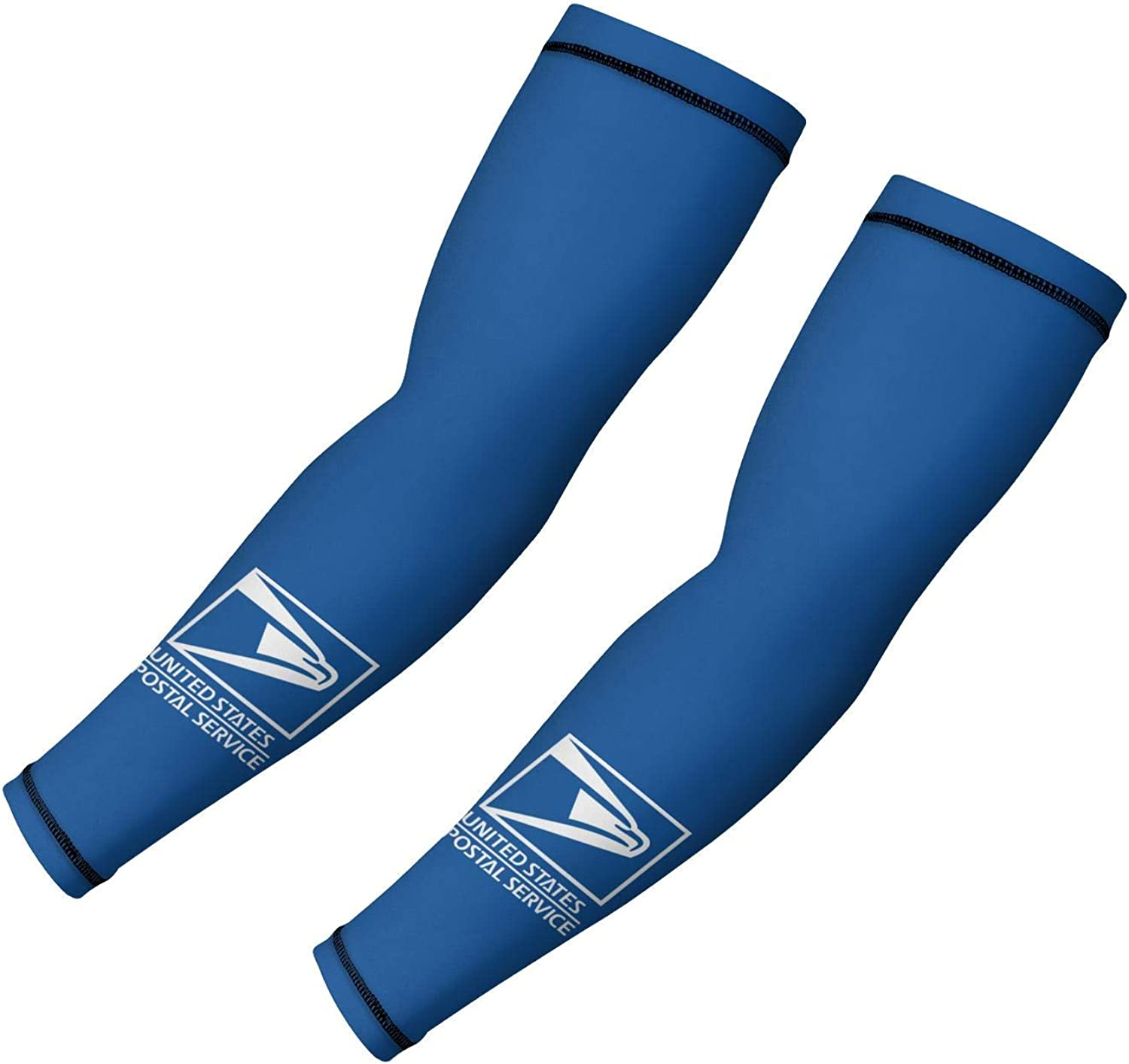 Cooling Arm Coverings Sleeves White-Black-United-States-Postal-Service-Mailman-Arm Sleeves for Men Women Basketball