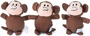 ZippyPaws - Zoo Friends Burrow Miniz, 3 Pack Refills
