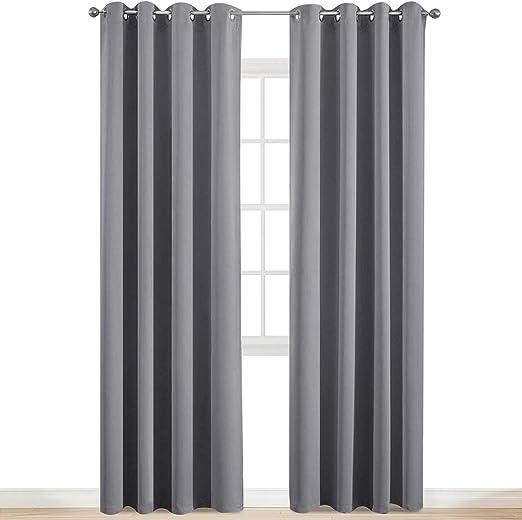 Blackout Room Darkening Curtains Window Panel Drapes Door Curtain for Bedroom
