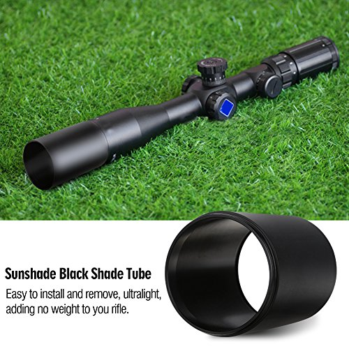 Riflescope Sunshades, 40mm Rifle Sun Shade Advanced Optic Sunshade Tube for Rifle Scope Black Standard (32mm Scope Sunshade)
