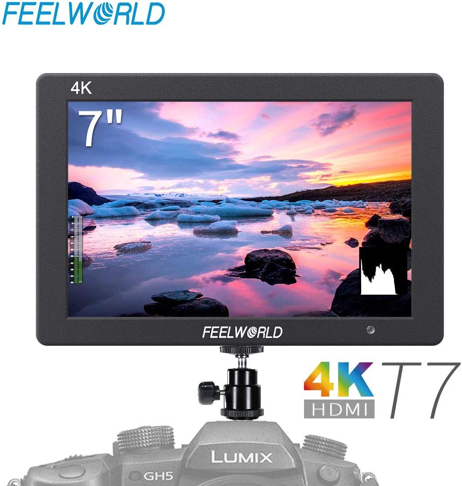FEELWORLD T7 7 Inch IPS 4K HDMI Camera Field Monitor Video Assist Full HD 1920x1200 Solid Aluminum Housing DSLR Monitor with Peaking Focus False Colors