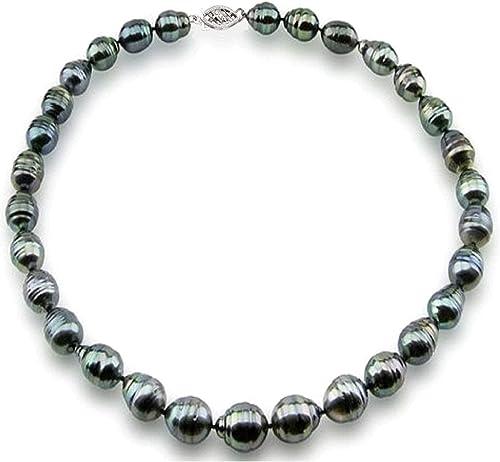 Black Pearl Round Multi-color Tahitian Pearl Bracelet Saltwater Pearl Bracelet 8-9mm South Sea Pearl 6.5-6.75 inches Wrist