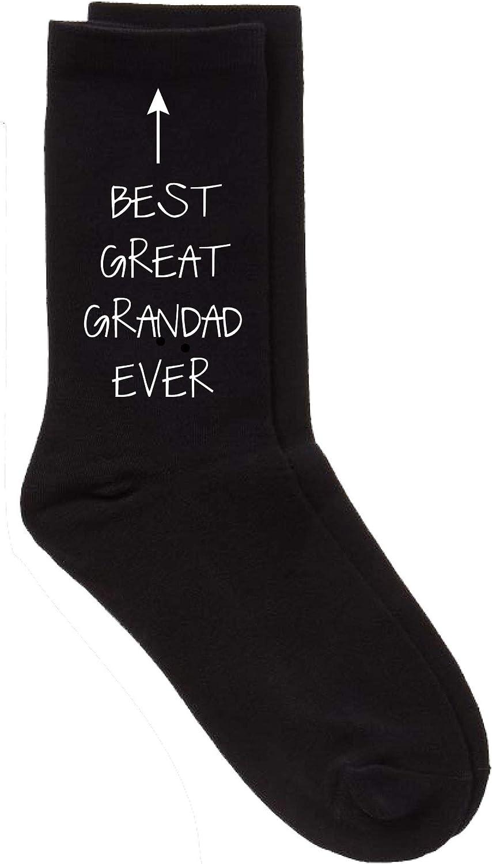 Great Grandad Gift Idea Black Socks Present Keepsake Size 6 to 11