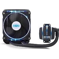 EMPIRE GAMING [NEUHEIT] Empire Cooler 240 - Watercooling-Kit PC AlO Gamer Wasserkühlung Lüfter 120 mm x 2 PWN CPU Intel und AMD