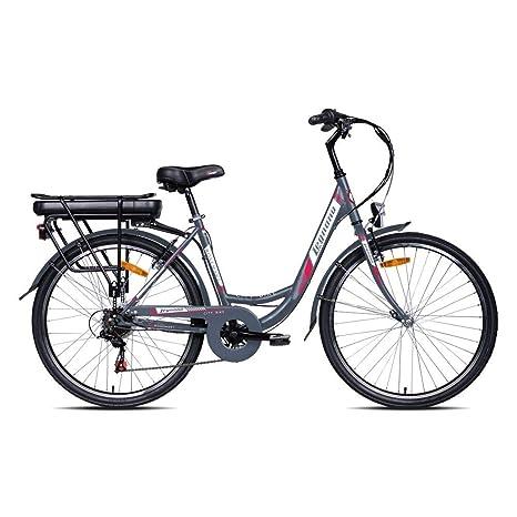 Legnano Bici Elettrica Rosmary 26 Bafang Rear Engine 6v Grigio City Bike Elettriche