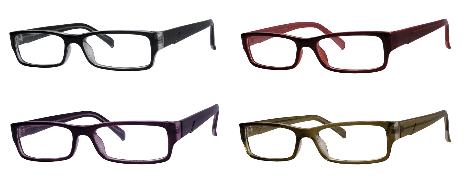 bc4a350e640 Amazon.com  Eyesland Unisex fashion PC scratch resistant lens reading  glasses(4 pairs value pack) size  +1.25  Health   Personal Care