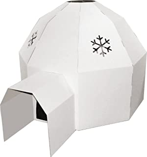 Kideco Cardboard Igloo Playhouse Toy (White)  sc 1 st  Amazon UK & Children Play Tent Igloo 112 x 94 x 112 cm: Amazon.co.uk: Baby