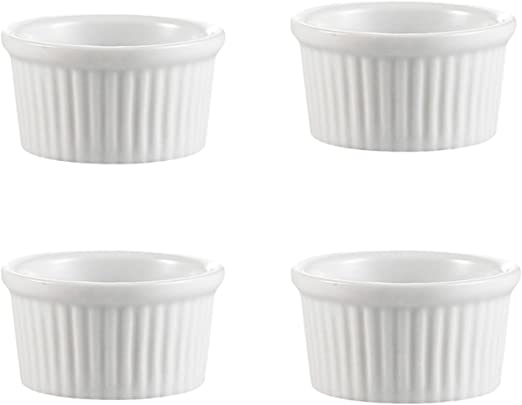 Desserts Dark Green SCENAY 9.4 oz Porcelain Ramekins Set of 4 Mini Casserole with Lid and Handle Souffl/é Dishes Casserole Dish French Onion Soup Snack
