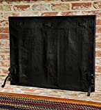 Plow & Hearth Medium Pavenex Fireplace Blanket Stops Overnight Heat Loss, In Black