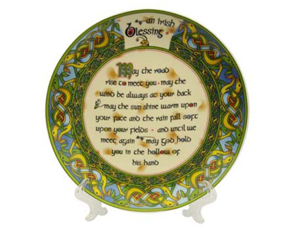 May the sun shine warm upon your face May the wind be always at your back Ceramic wall plaques handmade in the USA for 30 years. May the road rise to meet you