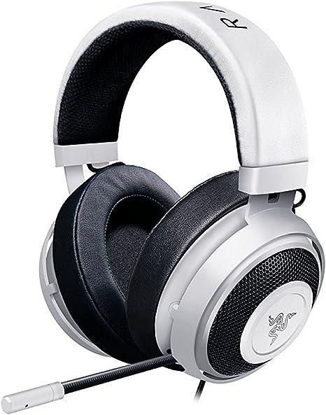Image ofRazer Kraken Pro V2: Diadema de aluminio ligero - Micrófono retráctil - Control remoto en línea - Los auriculares para juegos funcionan con PC, PS4 y dispositivos móviles - Blanco