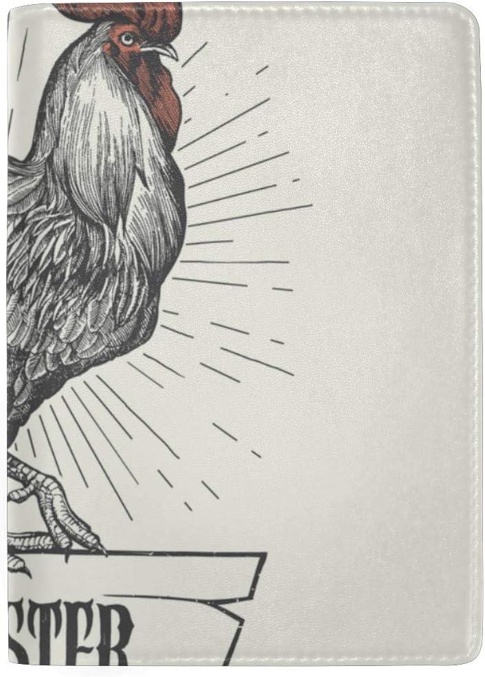 Cool Passport Case Beautiful Big Cock In Tweet Stylish Pu Leather Travel Accessories Best Passport Cover For Women Men