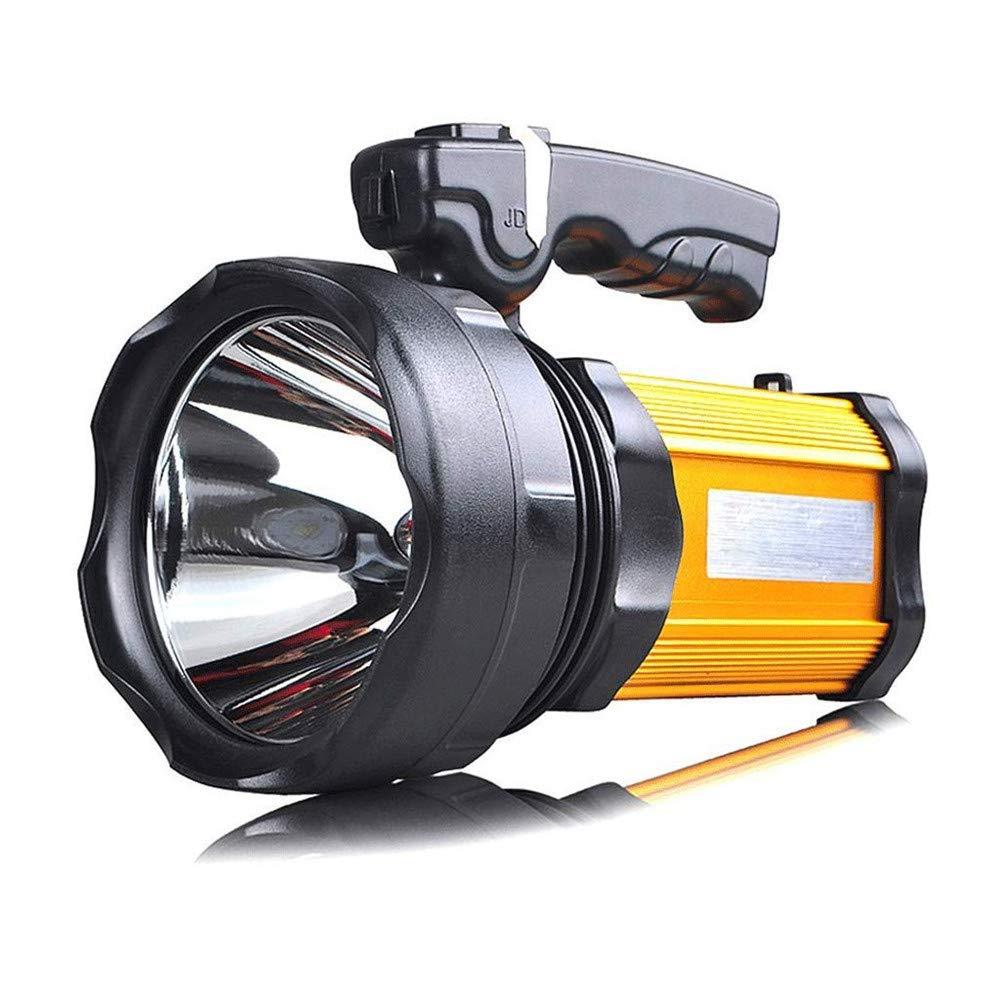 Scheinwerfer Blendung Taschenlampe Reichweite weit Aufladen super helle tragbare Multifunktionsscheinwerfer, Seitenlicht, 1200 Lumen Expeditionslicht (Farbe : Gelb Light)