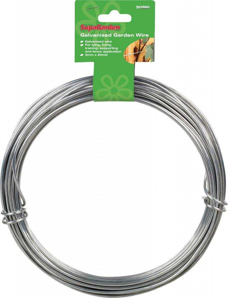 3mm x 20m Garden Wire Galvanised: Amazon.co.uk: Kitchen & Home