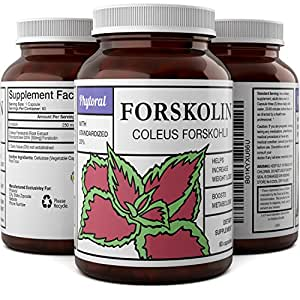 Pure And Potent Forskolin For Weight Loss - Diet Pills For Men And Women - Enhance Your Workout And Fitness Training - Build Lean Muscle And Burn Belly Fat - Natural Forskolin Extract Capsules