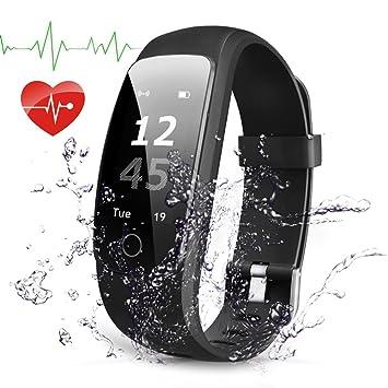 Pulsera Actividad Navtour Pulsera Inteligente con GPS para Correr, Nivel de Salud Cardiorrespiratoria, Guía de Respiración, Monitor de Ritmo Cardíaco ...