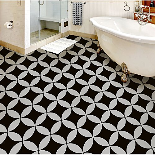 Nagoya Tile Stencil - Cement Tile Stencils - DIY Japanese Tiles - Reusable Stencils for Home Makeover (Large)