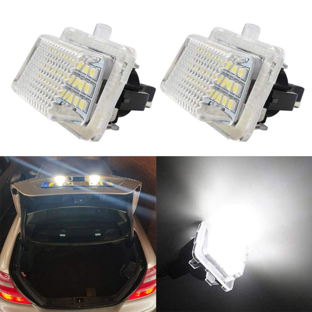 ahomi 2 unids Libre de Error LED Licencia matr/ícula Luces Luces l/ámparas para W204 W212 W216