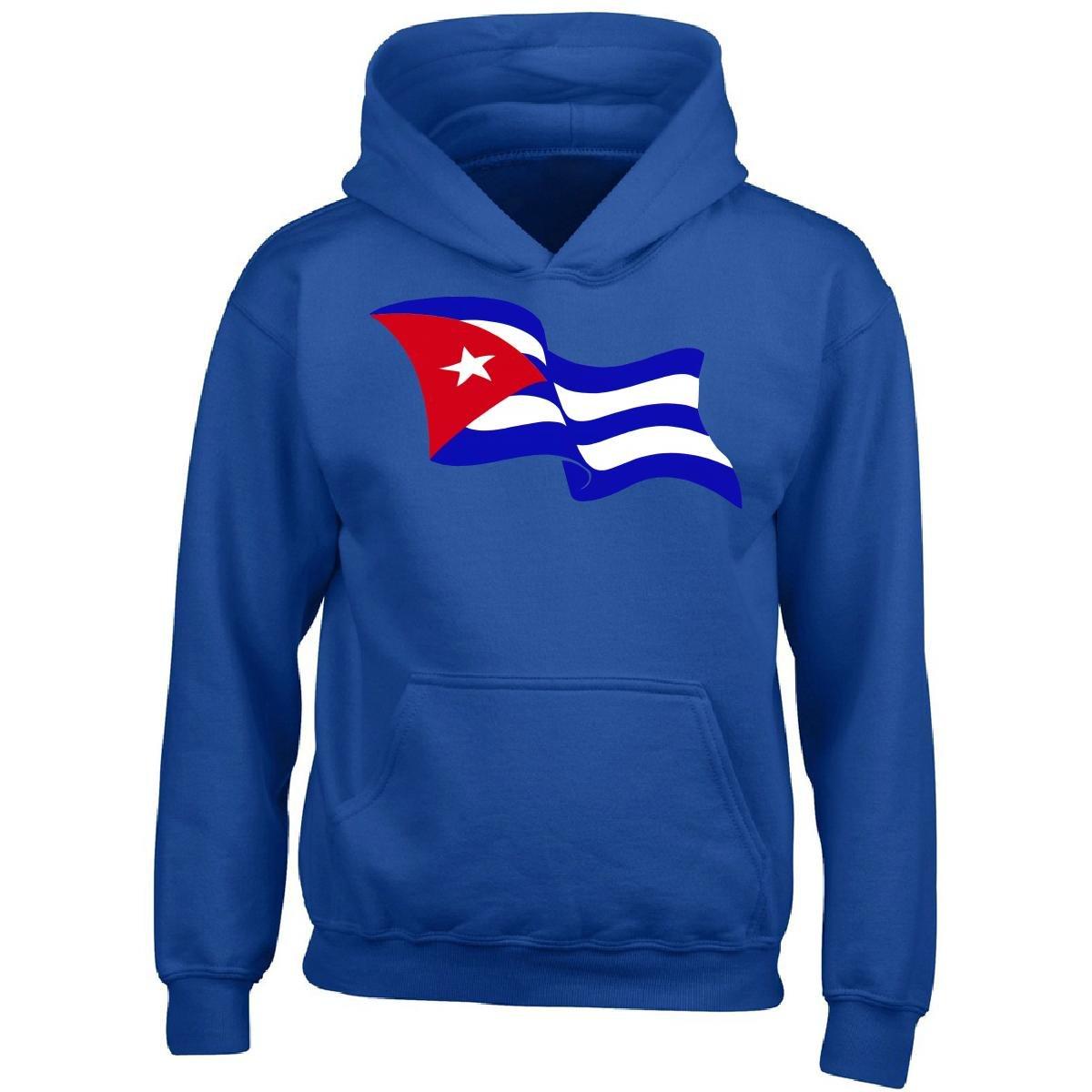 Latin America Focus Cuba Flag Windy Cuban Bandera Gift - Boy Boys Hoodie Kids XL Royal