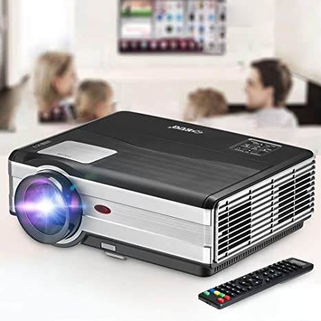 Movie Projector, EUG 4200 Lumen LCD Digital Home Theater Projector with HDMI Screen Zoom Keystone Max 200