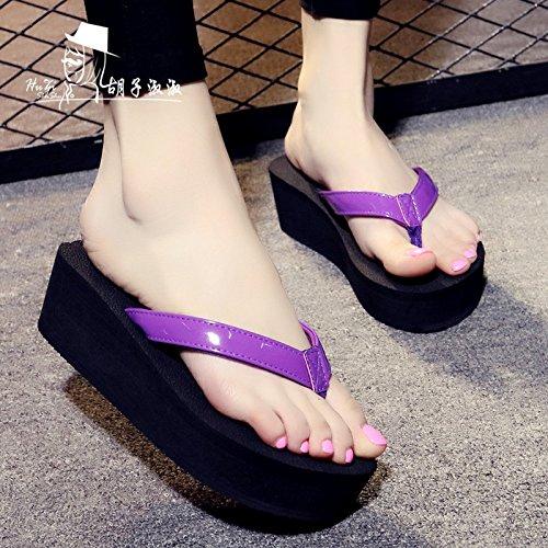 Flip Violetta Pantofole Piedi Sandali Qingchunhuangtang E Sandali dFCZ0xFqw