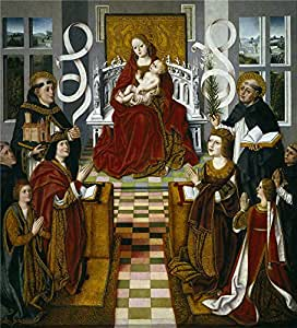 'Master of the Virgin of the Catholic kings The Virgin of the Catholic Kings Ca. 1491 ' oil painting, 8 x 9 inch / 20 x 22 cm ,printed on Perfect effect canvas ,this High Resolution Art Decorative Prints on Canvas is perfectly suitalbe for Wall art gallery art and Home decoration and Gifts